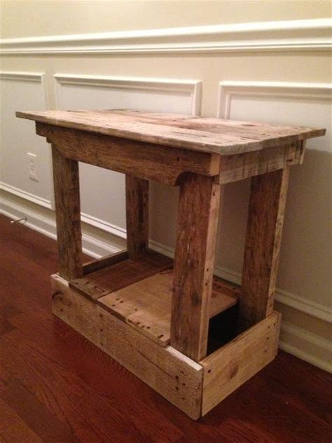 side table foyer table  table pallet furniture plans