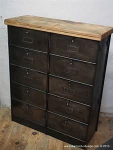 Casier Industriel Metal : meuble industriel a 10 clapet roneo mobilier indus meuble de metier usine metal ~ Teatrodelosmanantiales.com Idées de Décoration