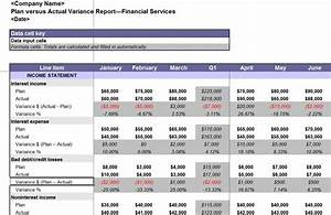 Budget variance report template budget template free for Budget to actual template