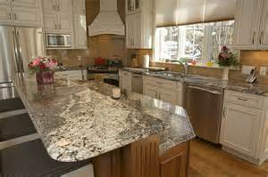 kitchen top ideas enchanting kitchen island with bar top with waterfall granite countertop edge also white vinyl