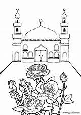 Coloring Mosque Ramadan Islamic Pages Sheets Printable Eid Mosques Bunch Crafts Muslim Raskraski Drawing Studies Few Sheet 1000 Language Adult sketch template