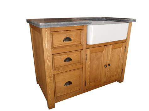 meuble de cuisine bois meuble evier de cuisine en pin