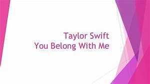 Taylor swift you belong with me-Lyrics analysed