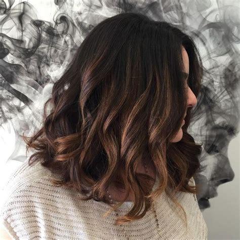 highlights ideas  dark brown hair  page