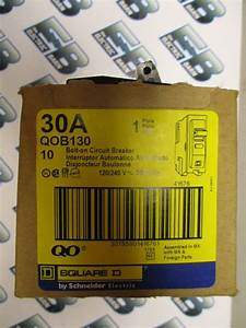 Square D Qob130  30 Amp 120 Volt Circuit Breaker  Yellow