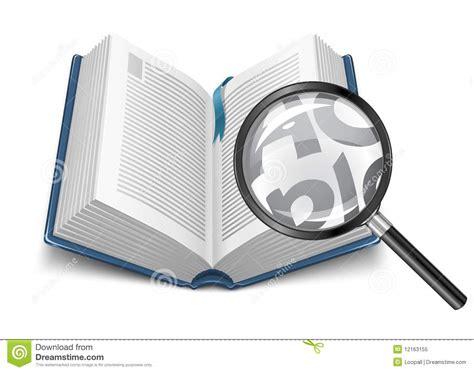 le avec loupe integree ouvrez le livre avec la loupe illustration stock image 12163155