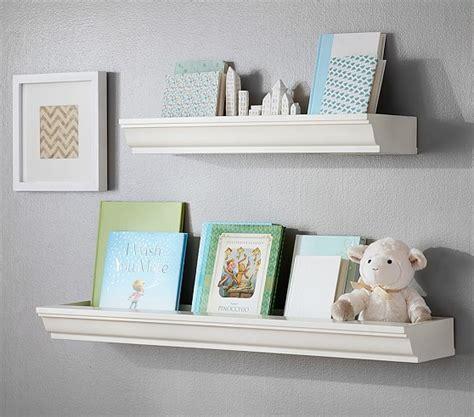 nursery floating shelves classic book nook shelving pottery barn 1118