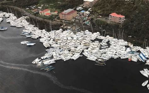 Hurricane Irma Boats Destroyed by Boats Clustered Together After Hurricane Irma On Friday