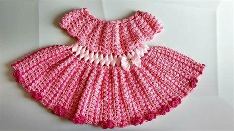 Vestido a crochet para bebe parte #1 YouTube