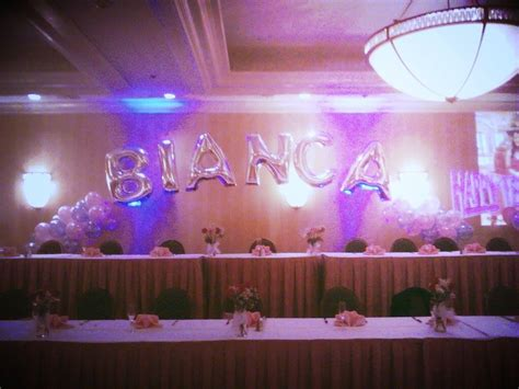 18th Birthday Decoration For Head Table Balloonname