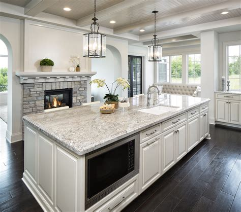 White Cabinets With Granite by Taupe White Granite Countertops In Kitchen C D Granite