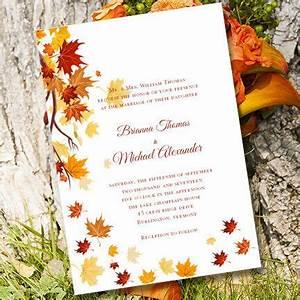printable wedding invitation template quotfalling leaves With wedding invitation text box