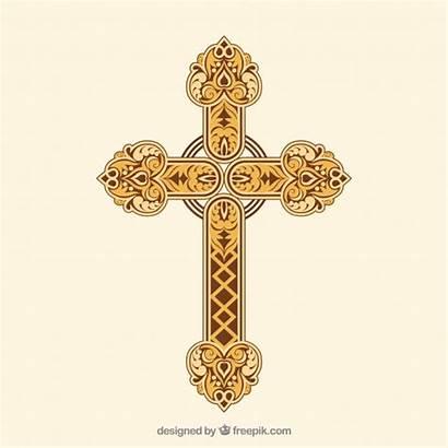Cross Ornamental Vector Outline Flat Freepik Save