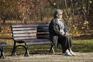 Photo.People.Lonely Senior sitting on Park Bench.SS756640 ...