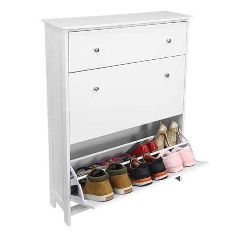 white wooden shoe storage cabinet 3 drawers white wooden shoe storage cabinet shelf