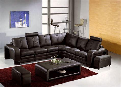 canapé en cuir canape d angle arrondi cuir maison design modanes com