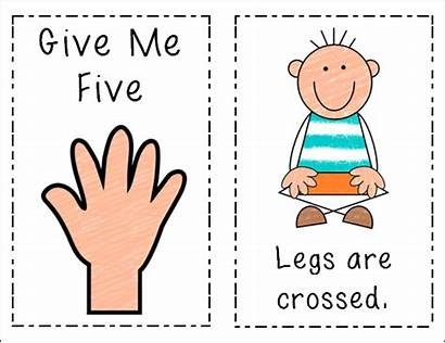 Classroom Give Five Management Rules Posters Clipart