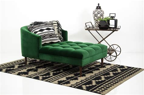green  envy   modshop chaise chaise lounge