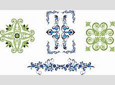 Delicate floral frames vector Free vector in Adobe