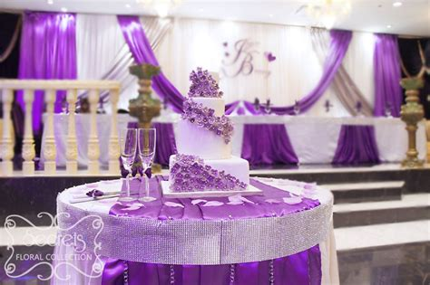 lavender and silver wedding cakes the cake table