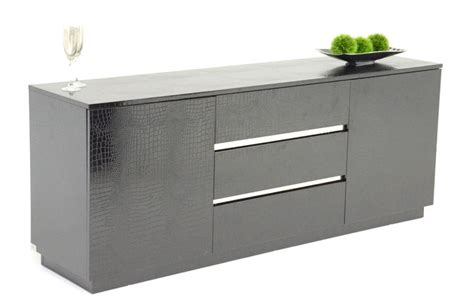Contemporary Sideboards Buffets by Modern Black Crocodile Lacquer Dining Buffet Philadelphia