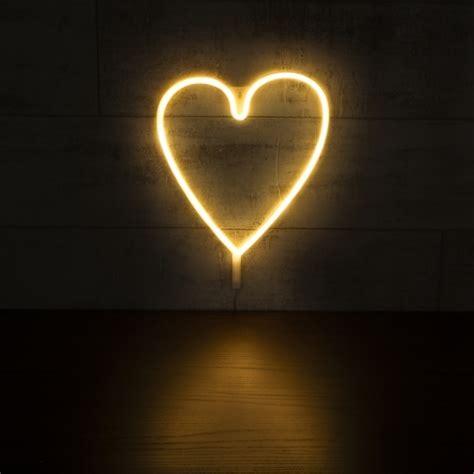 white heart shape led neon wall light neon sign wall light