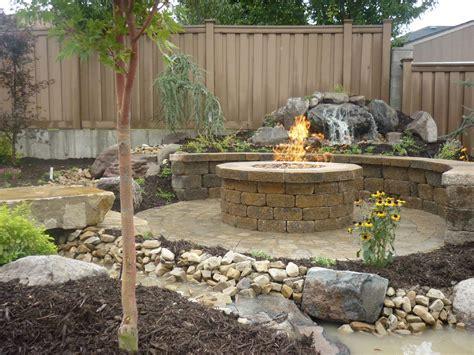 brick paver patio with pit pit design ideas