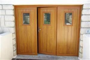 porte de garage avec porte en chene porte d entree With porte de garage avec porte en chene