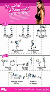 Dumbbell And Bodyweight Circuit Workout For Women | Muscle ...