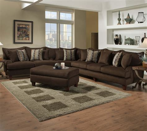 brown sectional with ottoman furniture brown velvet l shaped sofa with ottoman coffee