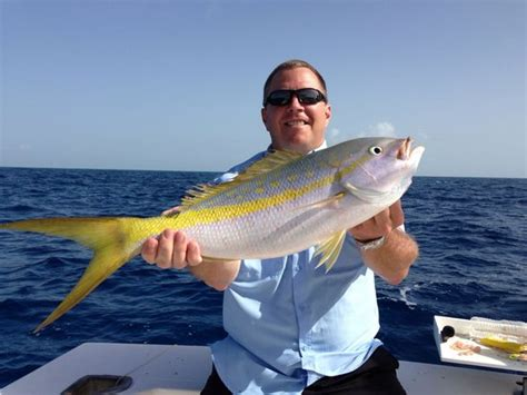 Charter Boat Fishing Pismo by Big Yellowtail Snapper Always Put A Smile On Our Faces
