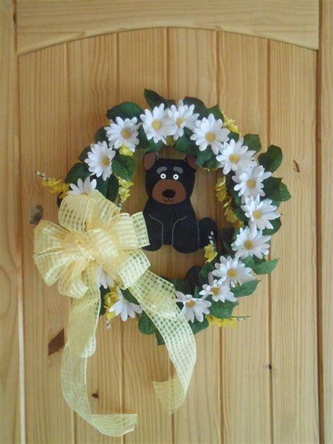 black bear wreath cabin wreath cabin decor log