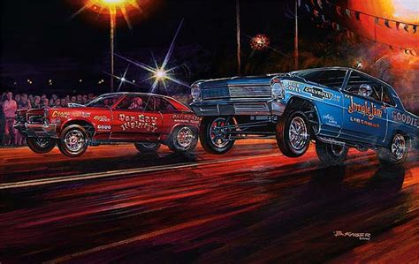 drag racing  car show art