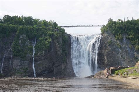visiting breathtaking montmorency falls quebec    family
