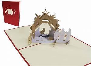 Pop Up Weihnachtskarten : pop up weihnachtskarte krippe pop up karten von lin online shop f r 3d gru karten ~ Frokenaadalensverden.com Haus und Dekorationen
