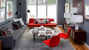 22 beautiful red sofas in the living room home design lover With what kind of paint to use on kitchen cabinets for papier peint bleu nuit