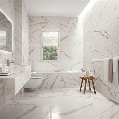 Small White Kitchen Ideas - statuario marble series the tile house