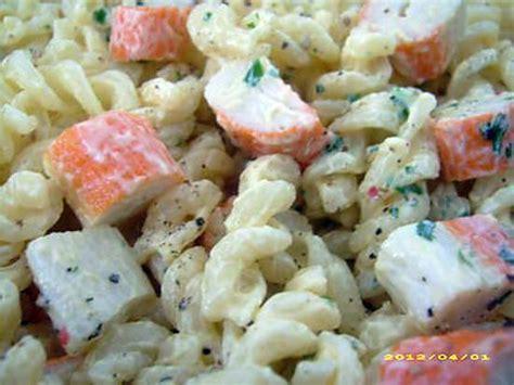 recette salade de pates au surimi recette de salade de fusilli au surimi