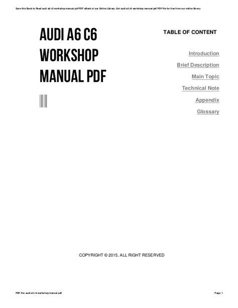 audi   workshop manual