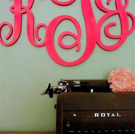 stylish monogrammed wall decor