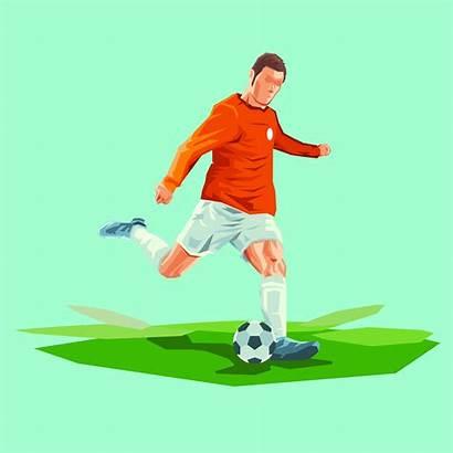 Ball Vector Soccer Player Illustration Football Creative
