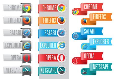 Logos del navegador web en cintas - Descargue Gráficos y