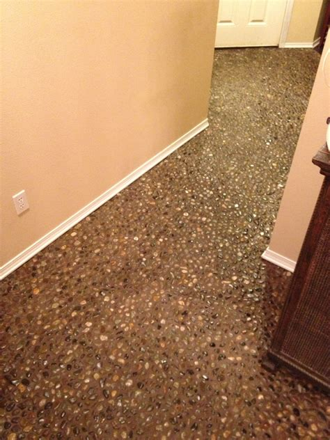 69 diy river rock pebble laid floor oooh i could totally do that