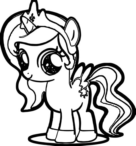 Coloring Pony by Pony Coloring Page Wecoloringpage