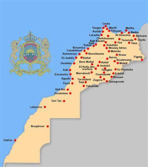 Carte Maroc Avec Villes by Carte Du Maroc Carte Routi 232 Re Des Villes Des R 233 Gions