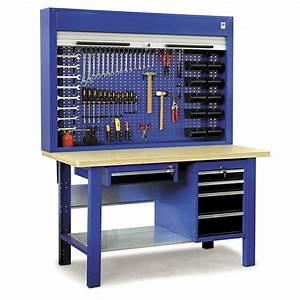 Etabli D Atelier : etabli d 39 atelier quip avec armoire porte outils 1500 ~ Edinachiropracticcenter.com Idées de Décoration