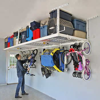 Saferacks Overhead Garage Storage Combo Kit, Two 4 Ft X 8