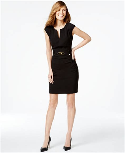 Calvin Klein Buckled Sheath Dress - Dresses - Women - Macyu0026#39;s