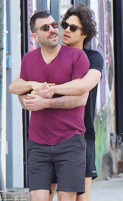 zachary quinto wife zachary quinto and miles mcmillan pack on the pda in nyc