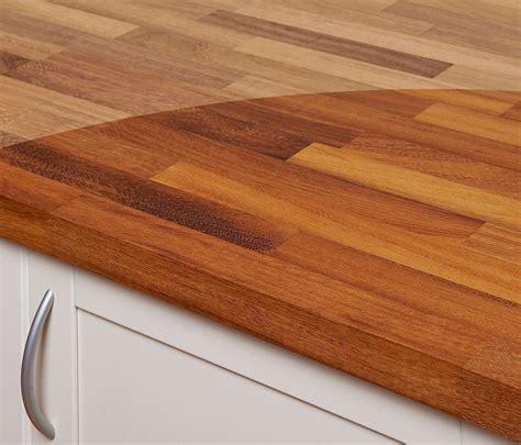 Arbeitsplatte  Küchenarbeitsplatte Massivholz Iroko Kgz
